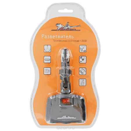 Купить Прикуриватель-разветвитель трансформер на 2 гнезда + 2 USB