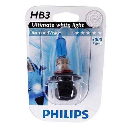 Купить Галогенная автомобильная лампа Philips HB3 12V- 65W (P20d) (белый холод.свет-голуб.оттен.) Diamond Vision блистер (1шт.). 9005DVB1 (бл.)