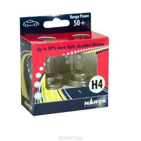 Купить Лампа автомобильная H4 12V- 60/55W (P43t) RP50 (к.уп. 2шт.) (Narva). 48861 (ку.2)