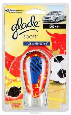 Купить GLADE Освежитель воздуха Sport для автомобиля Floral perfection 7мл Футбольная коллекция