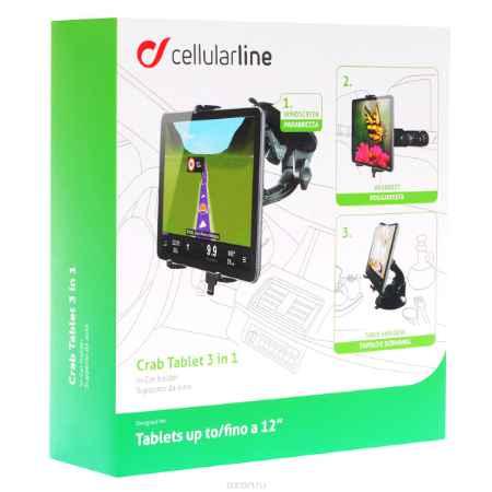 Купить Cellular Line Crab Tablet 3 in 1 автомобильный держатель для планшета до 12
