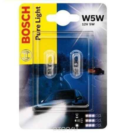 Купить Лампа Bosch W5W 5Вт 2шт.