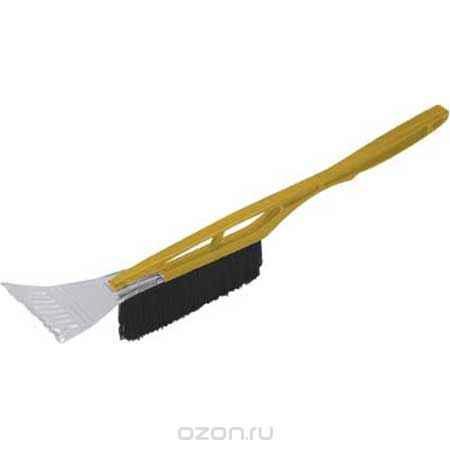 Купить Щетка-скребок для уборки снега FIT, длина 53 см, цвет: желтый