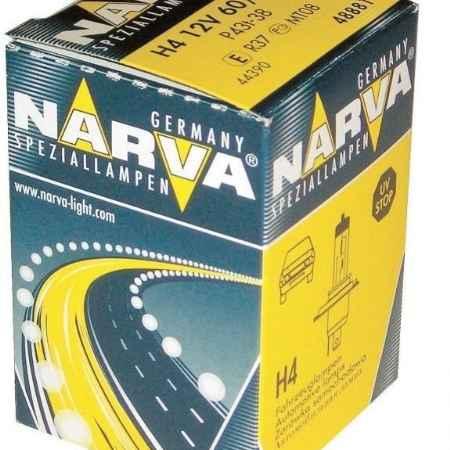 Купить Лампа автомобильная H4 12V- 60/55W (P43t) (Narva). 48881