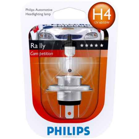 Купить Галогенная автомобильная лампа H4 12V-100/90W (P43t) Rally - тип блистер (1шт.). 12569RAB1 (бл.)