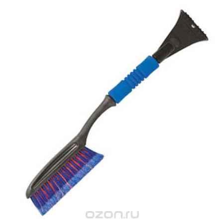 Купить Щетка-скребок для уборки снега Fit, цвет: синий, красный, 63 см