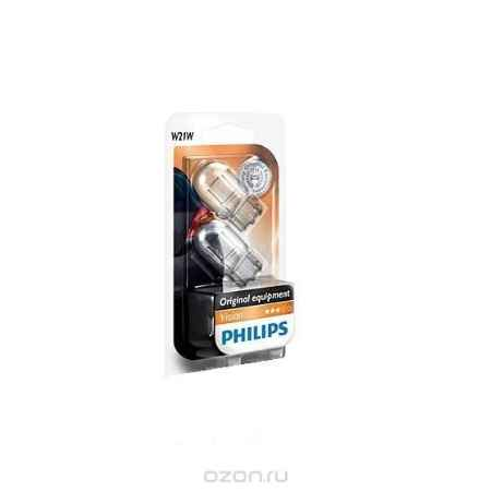 Купить Сигнальная автомобильная лампа Philips W21W 12V-21W (W3x16d) (блистер 2шт.). 12065B2 (бл.)