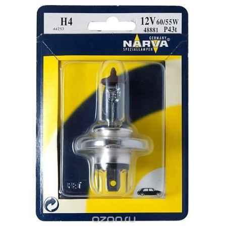 Купить Лампа автомобильная H4 12V- 60/55W (P43t) RPB (блистер 1шт.) (Narva). 48677 (бл.1)