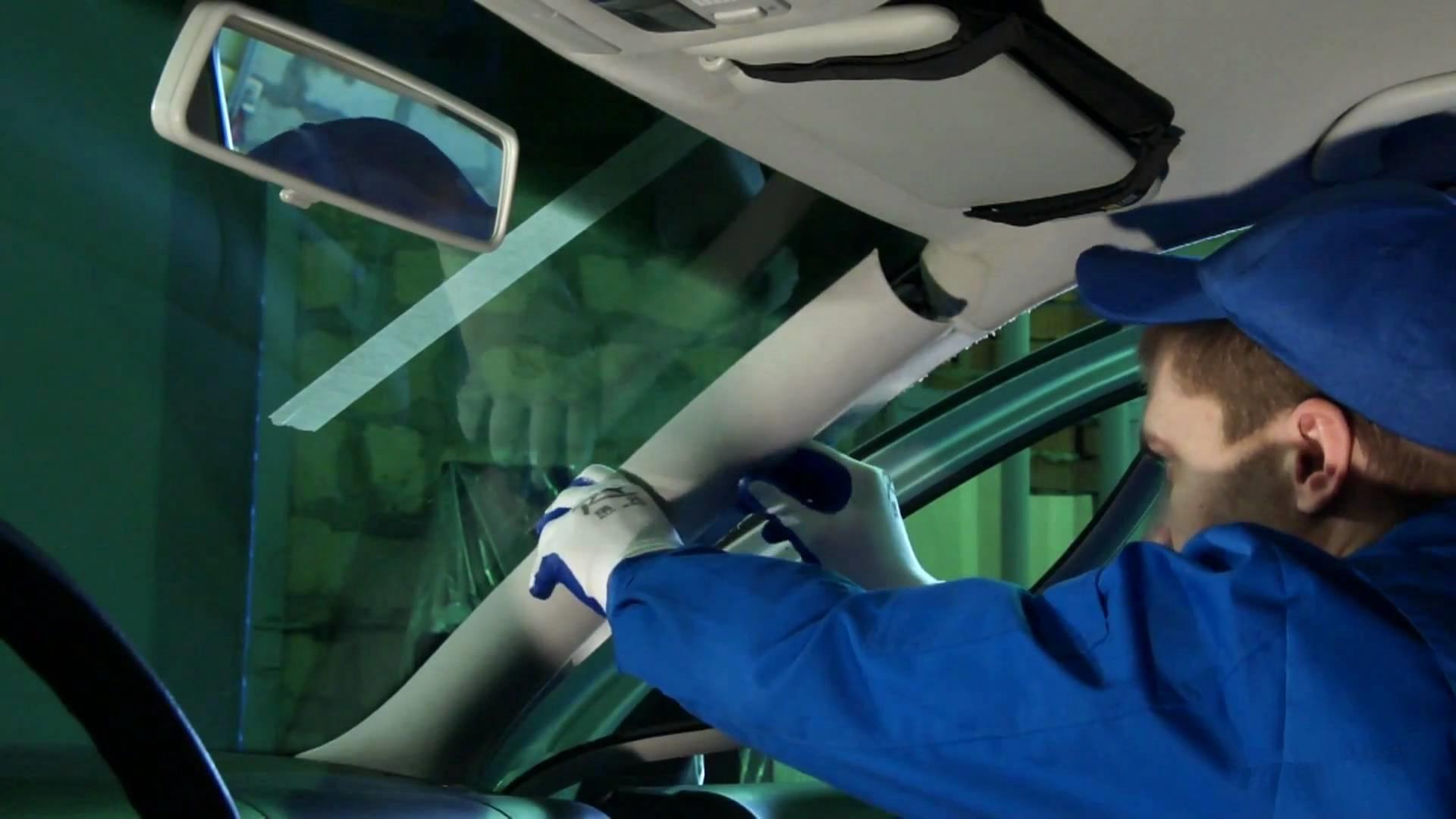 Как сделать замену лобового стекла на лансер 9