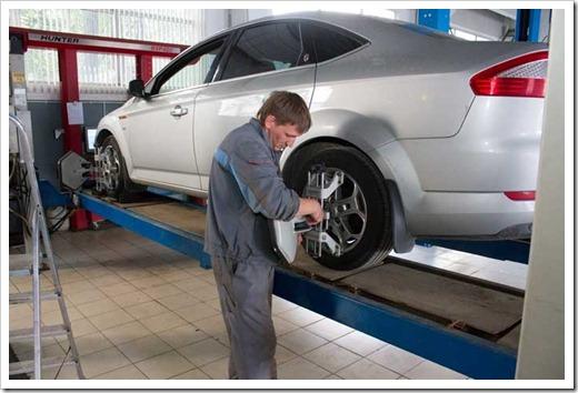 Измеряем развал схождение передних колёс