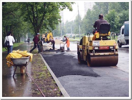 Специальная техника, которая задействована на строительстве дорог