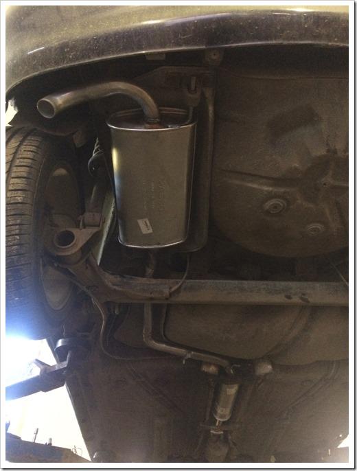 Порядок действий при замене глушителя на VW Polo